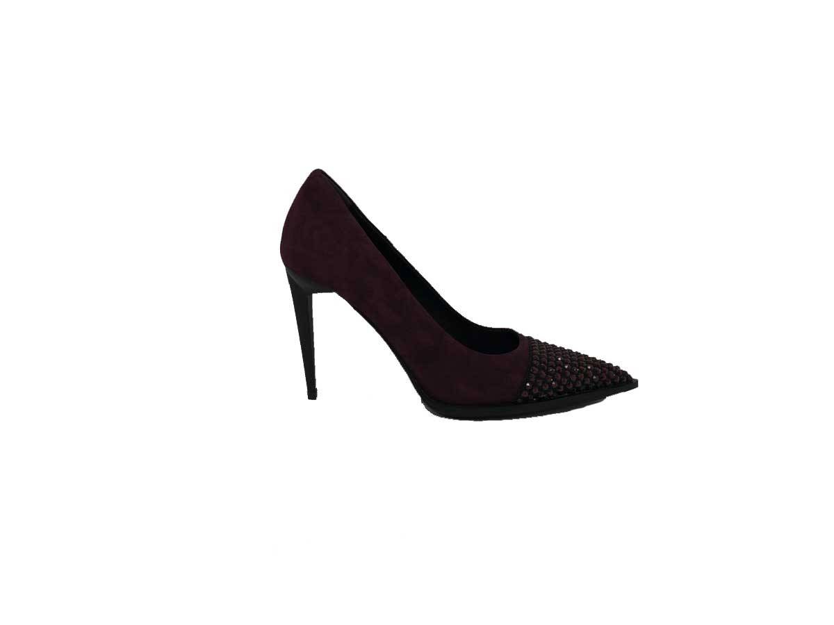 "eddy daniele "" ew2030 col. bordeaux swarovski rossi scarpa"