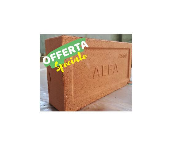 alfa ref mattone refrattario rosso - set di n.5 mattoni
