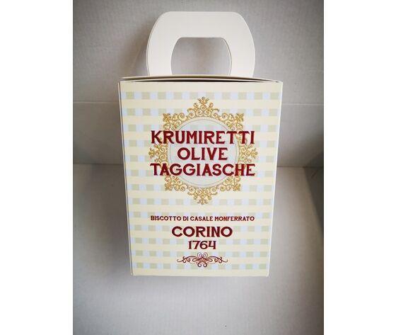 Scatola Krumiretti Olive Taggiasche Confezione Natale - 200 Grammi