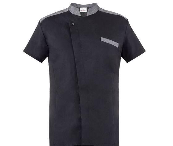 giblor's giacca da chef enea manica corta di colore nero
