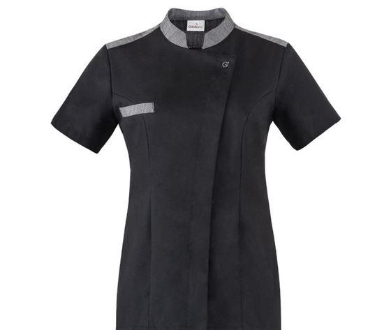 giblor's giacca da chef ida manica corta di colore nero