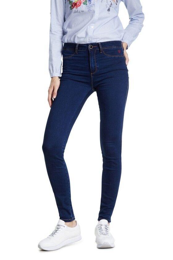 desigual jeans donna blu  20swdd43 denim_twoskin blu