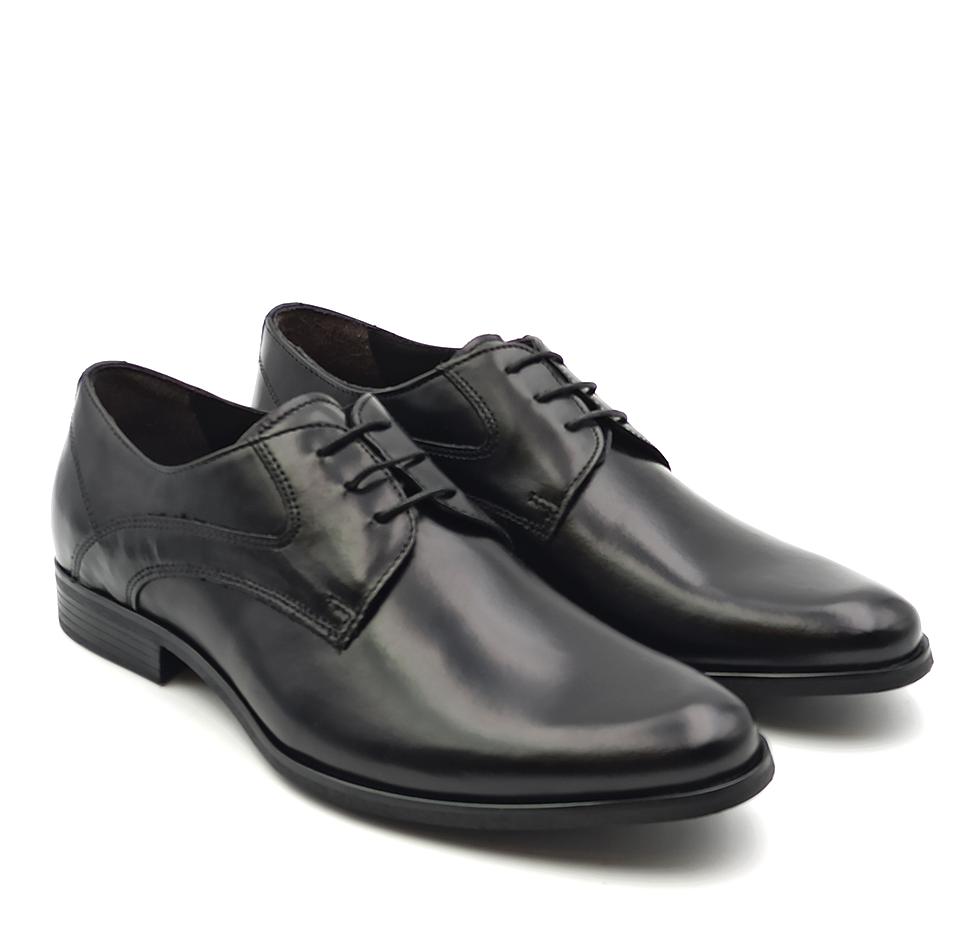 nicola benson scarpa uomo stringata in pelle liscia nera benson 3186b galaxy nero