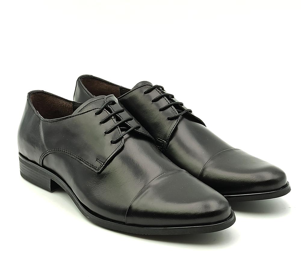 nicola benson scarpa uomo stringata con puntale in pelle nera benson 7186a gal nero