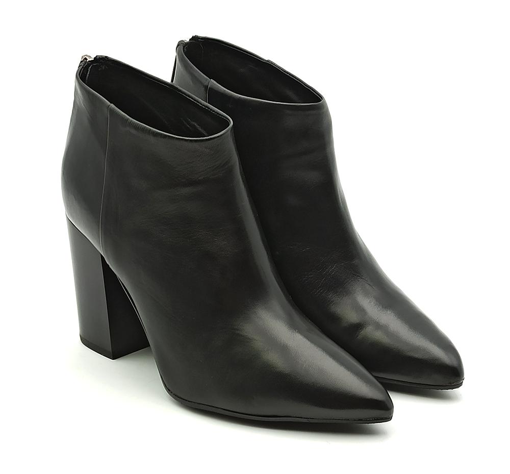 carmens stivaletto tronchetto donna tacco alto in pelle nera  42195 glove nero