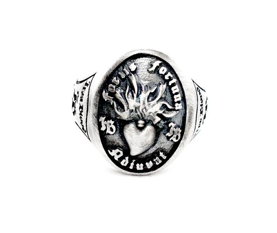 iron blood ring silver 925-fortis fortuna adiuvat-