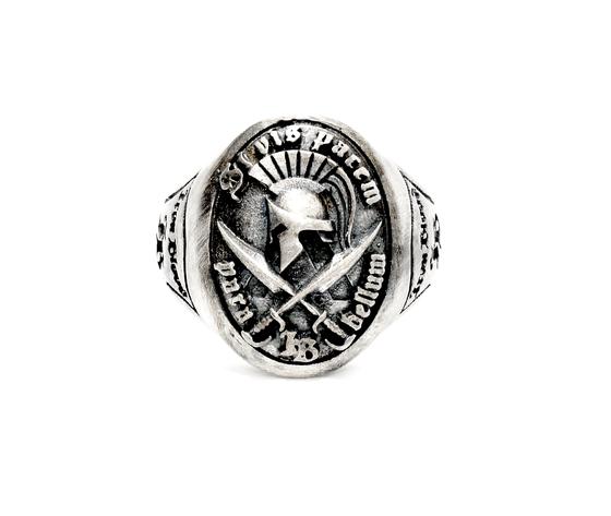 iron blood ring silver 925-si vis pacem para bellum-