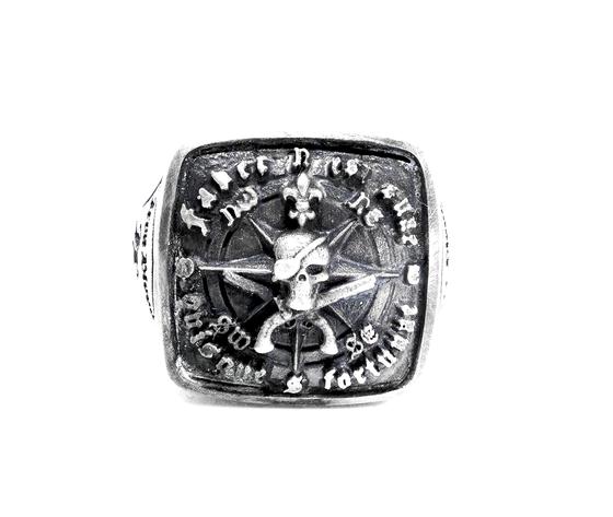 iron blood ring silver 925-faber est suae quisque fortunae-