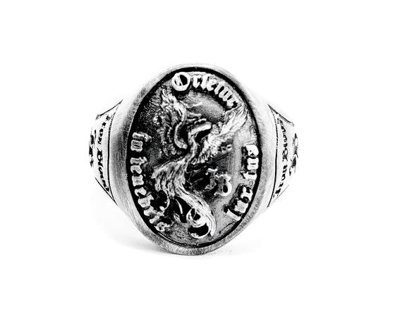 iron blood ring silver 925-orietur in tenebris lux tua-
