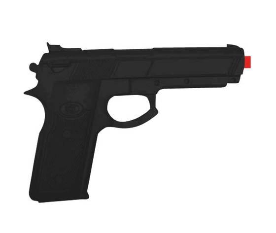 BEMARTIAL Pistola In Gomma Replica Fedele Nera