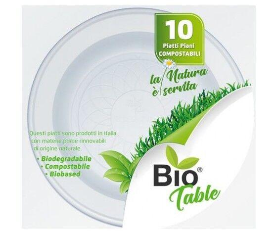 packaging4you Piatti Piani Biodegradabili Ø22cm