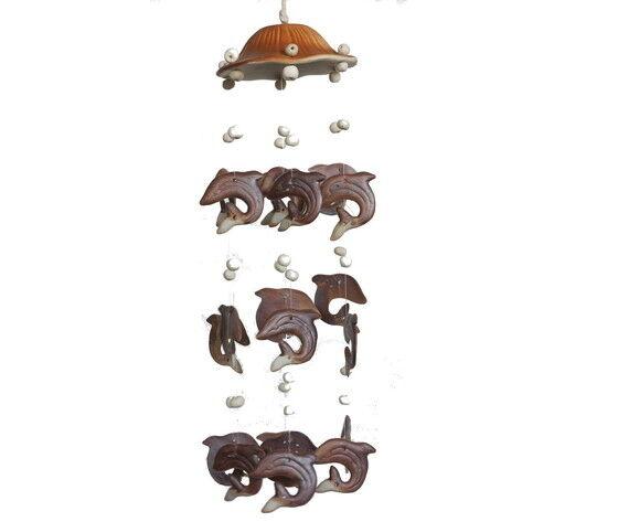 gecas regali dal mondo scacciaguai ceramica delfini misura 40cm. 1tl0419