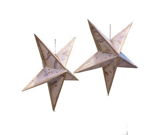 generico 1np0089 - set di 2 paralumi in carta saa stella misura d. 60 cm