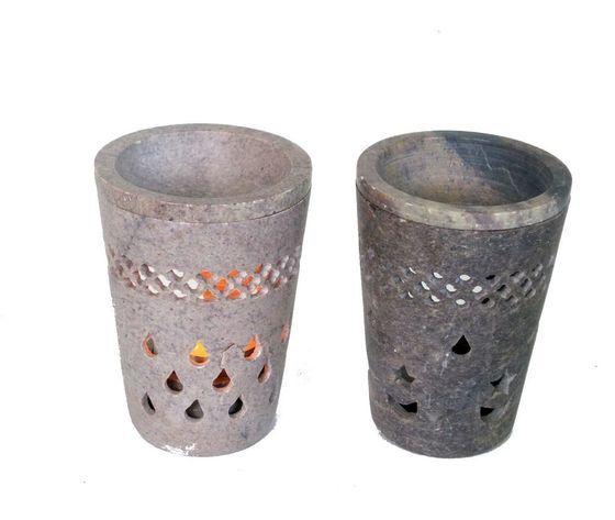 gecas regali dal mondo - brucia aroma pietra saponaria misura 18 cm