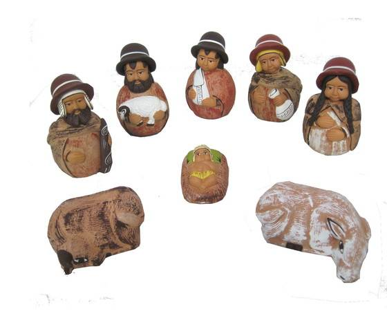 Gecas Regali Dal Mondo - Presepe Terracotta Serrano Set H.10 Cm