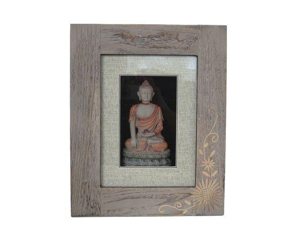 gecas regali dal mondo quadro budda con girasole 32x26 cm.
