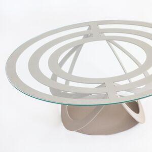 Casa Shop Tavolino da salotto ovale Optical Ardesia