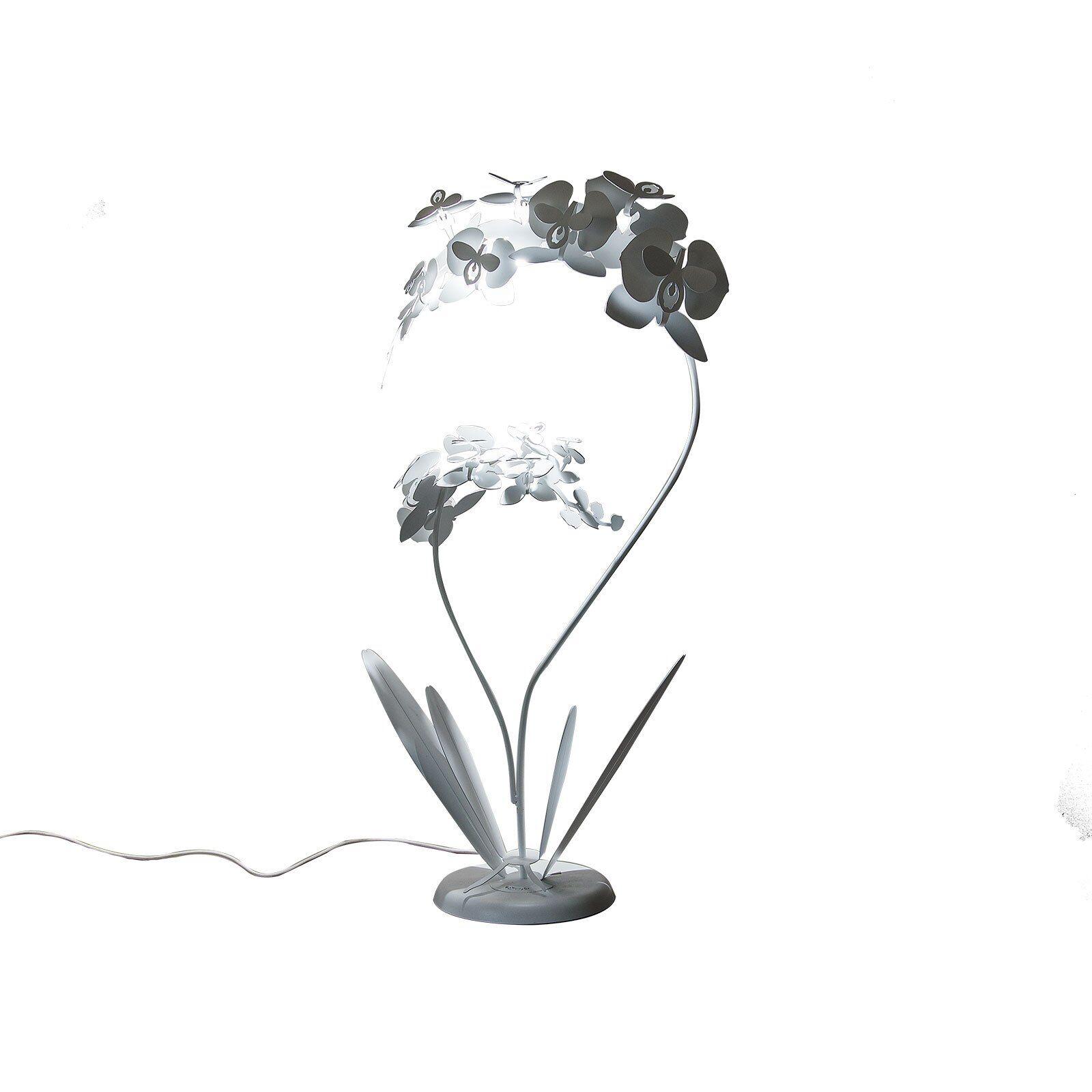 casa shop lampada da terra pianta orchidea grande bronzo