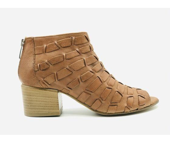scarpa con tacco glam gianna cuoio