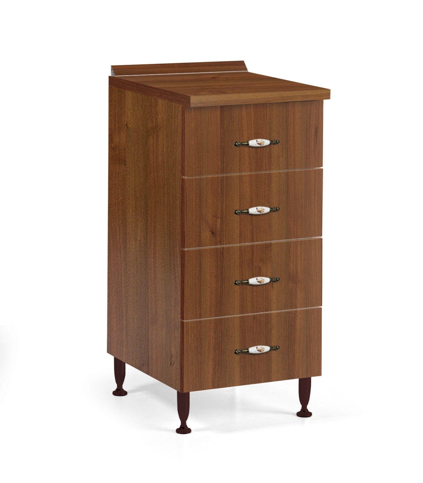 caesaroo base cassettiera cucina 40x50xh85 in legno noce antico   noce