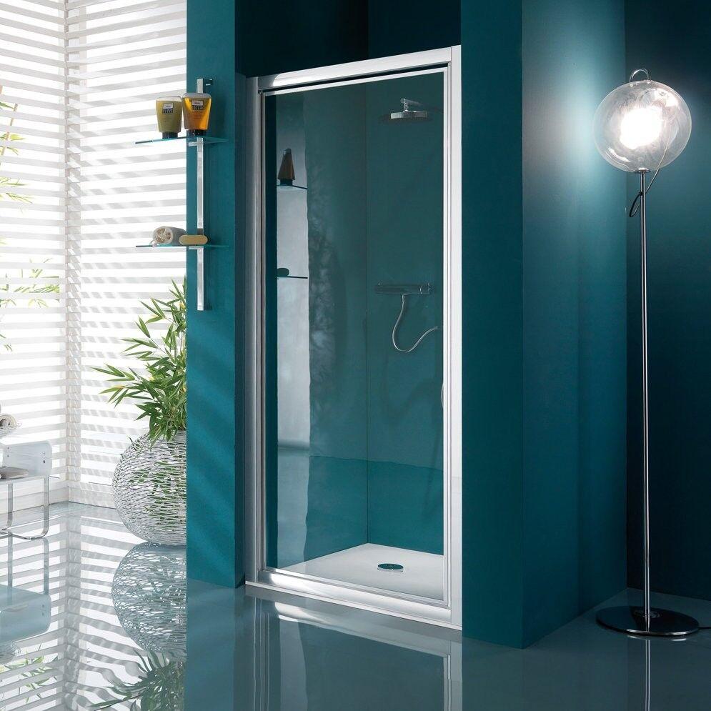 caesaroo samo porta ad un'anta battente per box doccia serie america   bianco