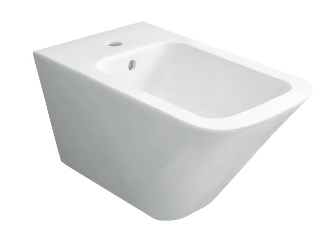 Caesaroo Bidet sospeso in ceramica 36x55 cm azzurra ceramica Build Bianco lucido - Standard