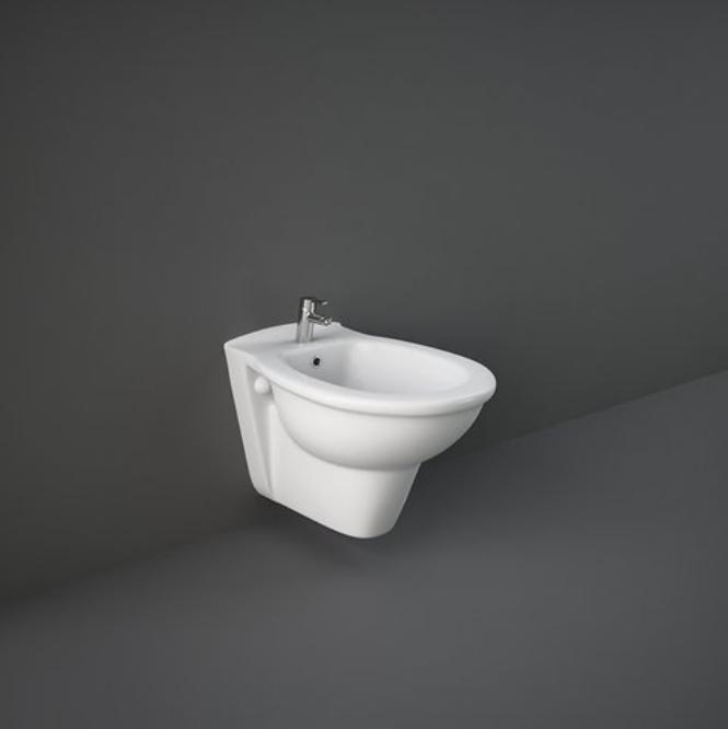 Caesaroo Bidet sospeso in ceramica 36,5x55 cm serie Oxford Bianco lucido - Standard