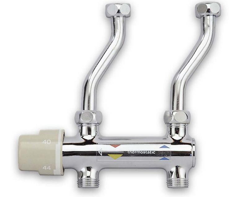 Caesaroo Miscelatore termostatico sottoboiler in ottone cromato Cromato
