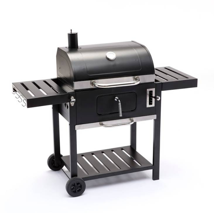 Caesaroo Barbecue a carbonella Nivon X in acciaio nero   nero
