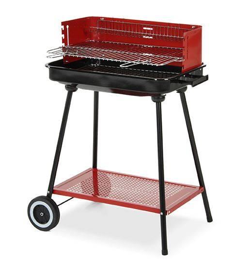 Caesaroo Barbecue a carbonella con paravento e ruote   Acciaio