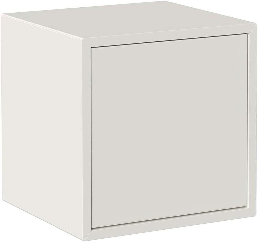caesaroo cubo da parete bianco opaco con anta serie lisbona   bianco