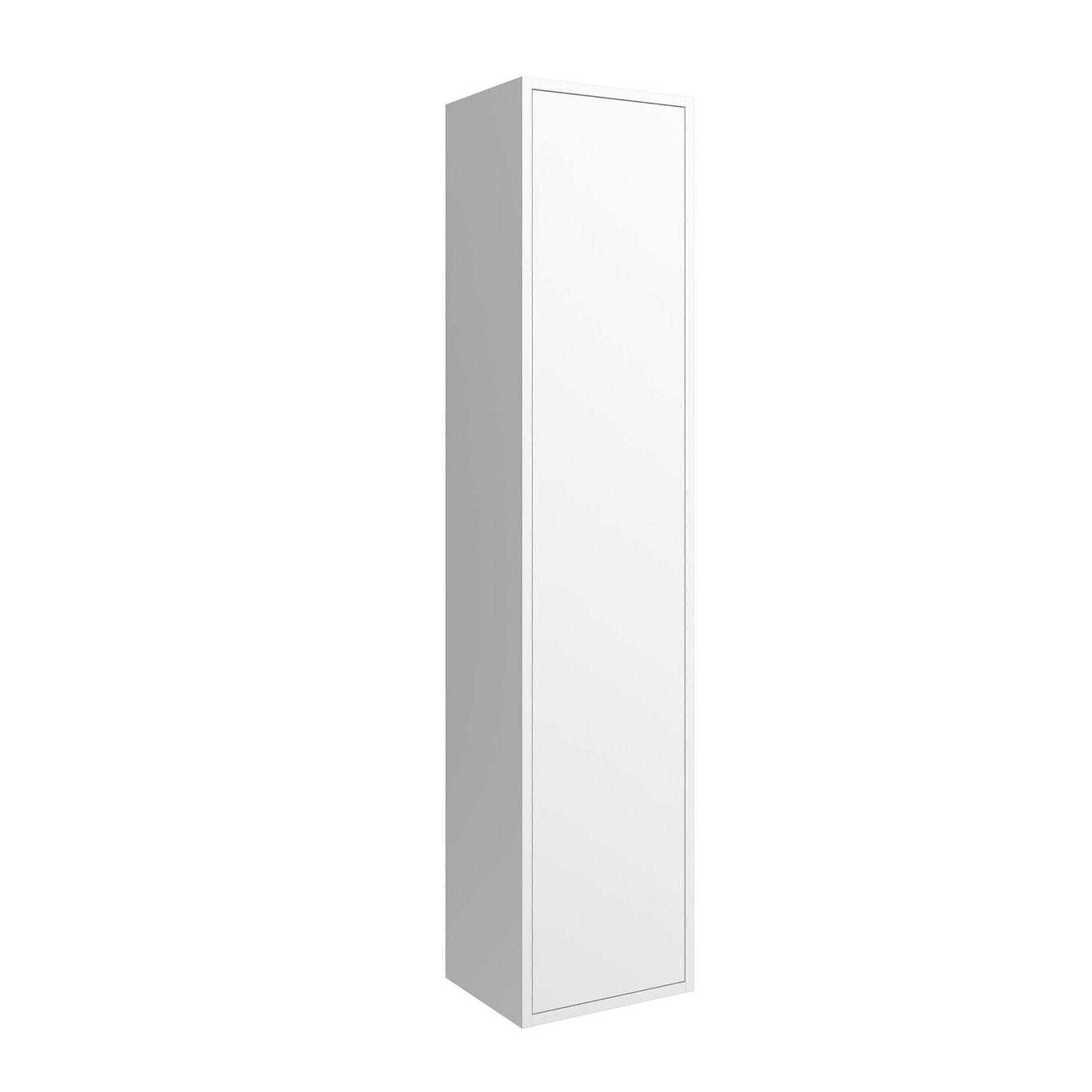caesaroo colonna bagno sospesa ulisse in legno bianco opaco   bianco