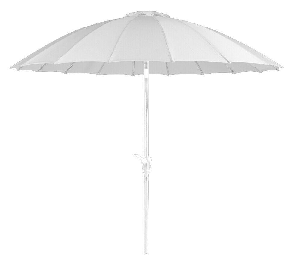caesaroo ombrellone da giardino Ø 2,7 m bianco con struttura in metallo   bianco