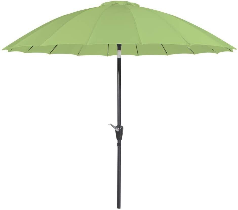 caesaroo ombrellone da giardino Ø 2,7 m verde con struttura in metallo   verde