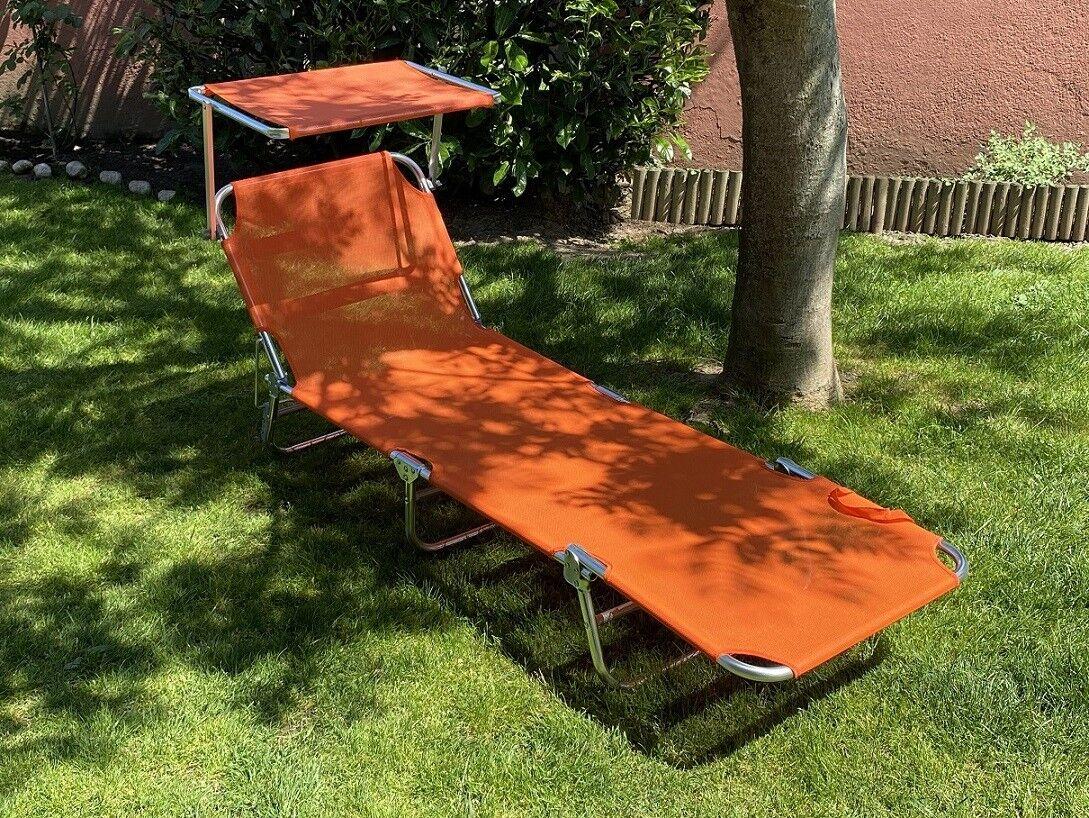 Caesaroo Brandina pieghevole Matera 189x59 cm arancione con struttura in alluminio   Arancione