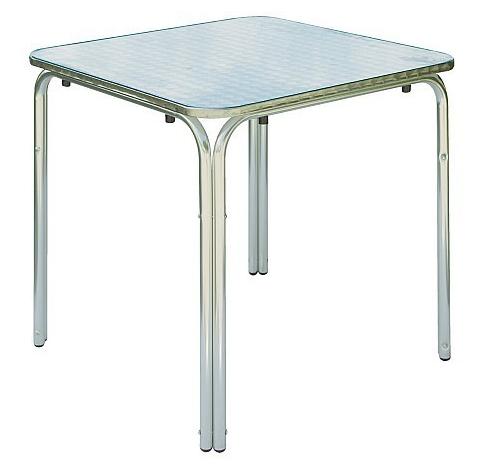 Caesaroo Tavolo da esterno quadrato 70x70 cm in alluminio ed acciaio Alluminio