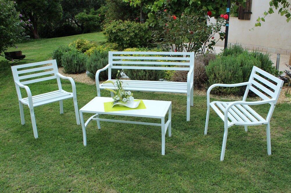 Caesaroo Set da giardino Fiora con struttura in ferro colore bianco Bianco