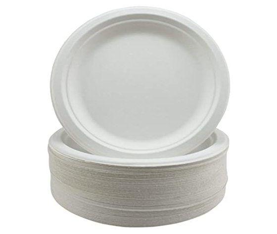 Piatto-Dessert-18-Cm Biodegradabile Cf 50 Canna Da Zucchero