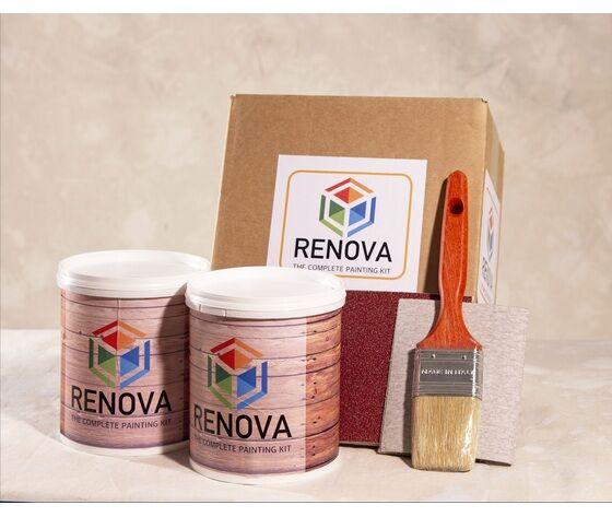 kit vernice per superfici in legno, per pitturare oggetti in legno da interno e da esterno, come gazebo, arredo giardino, staccionate, persiane, tapparelle
