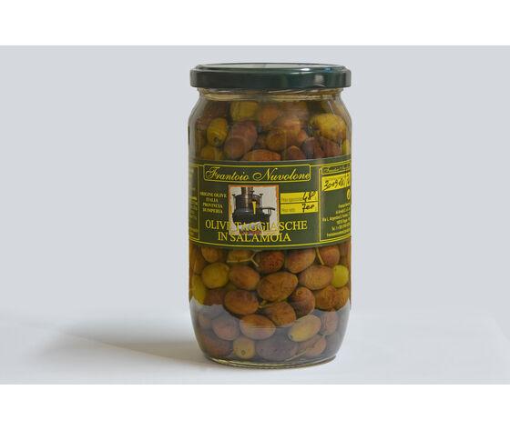 Frantoio Nuvolone Olive Taggiasche In Salamoia Confezione Da 500 Gr. In Vasetto