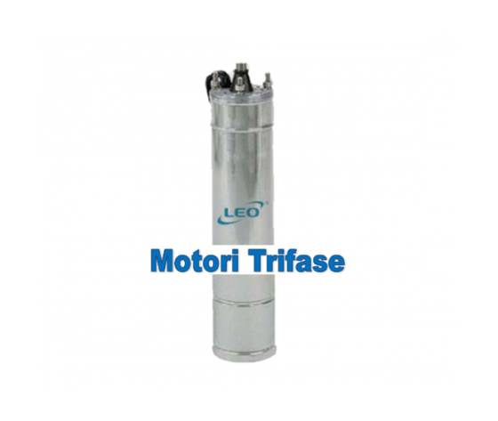 motore trifase sommerso leo kw 1,1 hp 1,5 v380 mod. 4m15t