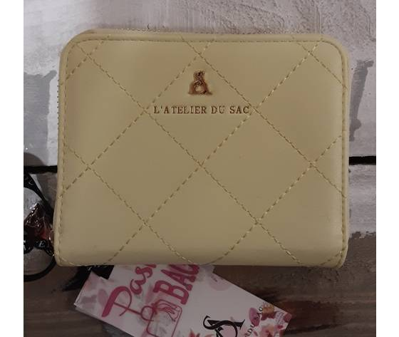 pash bag by atelier du sac portafoglio donna fantasia  giallo piccolo