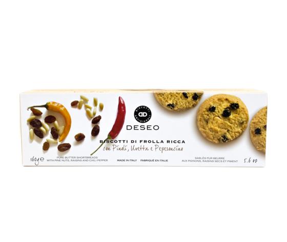 Deseo Biscotti Di Frolla Ricca Con Pinoli, Uvetta E Peperoncino -