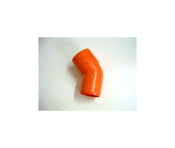 plastubital curva da 125 a 45° pvc arancio