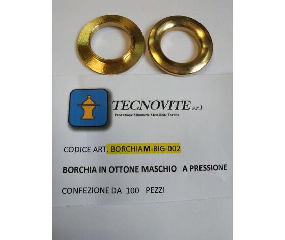 Tecnovite Borchia In Ottone Cromato Maschio Per 100 Pz