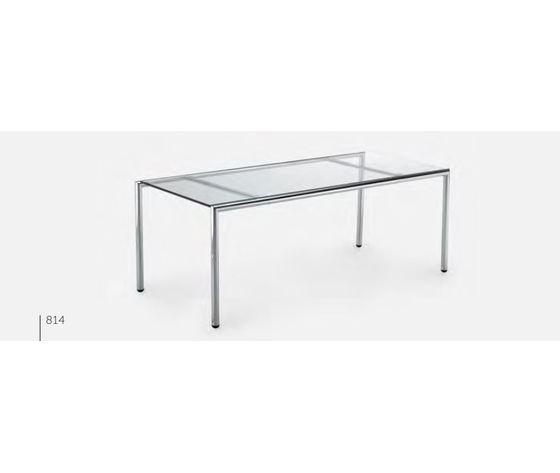 Tavolino Caffe' Charme Cromo Struttura In Metallo Cromato E Piano In Vetro