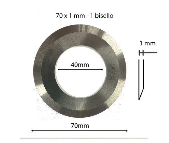 Coltex Coltello Circolare In Acciaio Super Rapido Hss 70x40x1