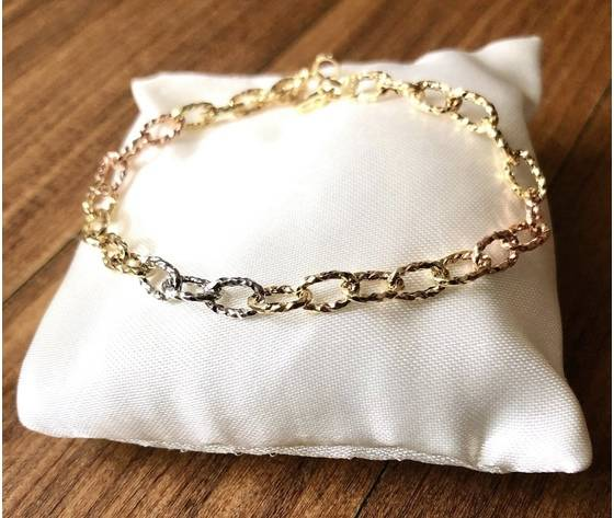 Barron gioielli Bracciale Oro Giallo Bianco Rosè