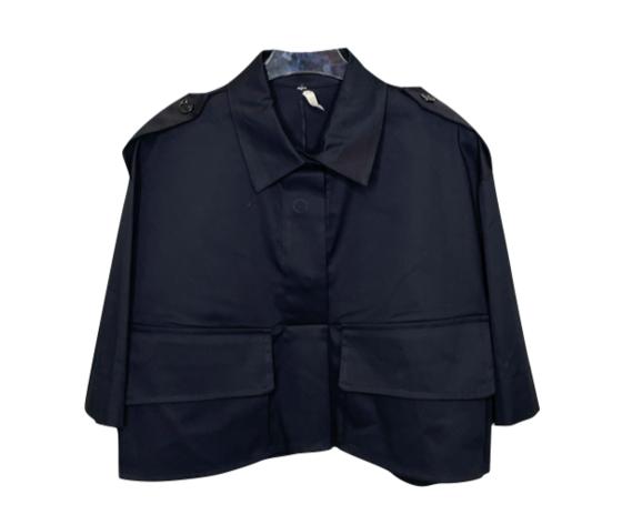 nomad industry camicia donna modello crop in nero
