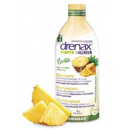 drenax paladin pharma spa drenax forte plus esotico con estratto d'ananas 750 ml